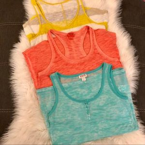 <Mossimo & Old Navy> Burn Out Tank Top Bundle